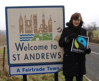 St Andrews sign Fairtrade Fortnight 2011